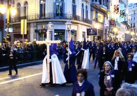 Procesión de Jesús Nazareno de Medinaceli en la Semana Santa en Madrid