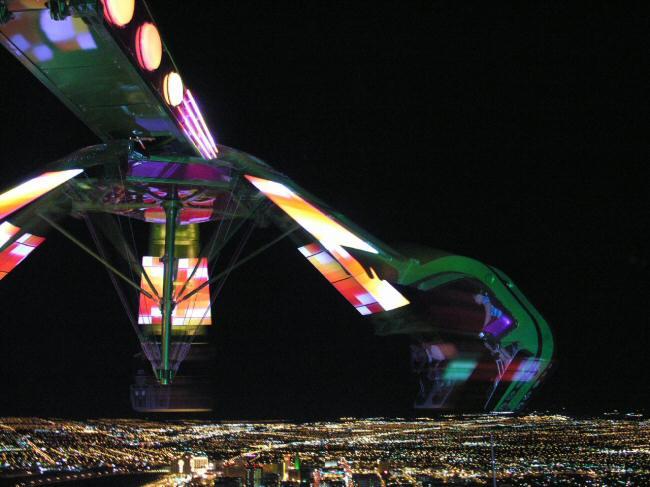 Atracción en lo alto de la Torre del Hotel Stratosphere en Las Vegas