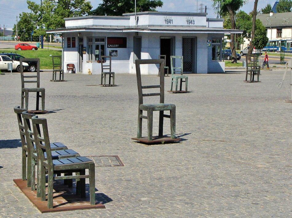 Monumento a los judíos en Cracovia en Polonia