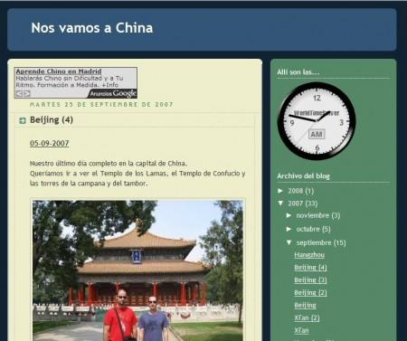 """Blog personal """"Nos vamos a China"""""""