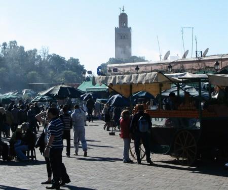 Plaza Jemaa El Fna de Marrakech en Marruecos