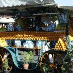 Puesto de venta de zumo de naranja en la Plaza Jemaa El Fna de Marrakech - Marruecos
