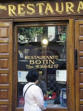 Restaurante Sobrino de Botín de Madrid, el más antiguo del mundo