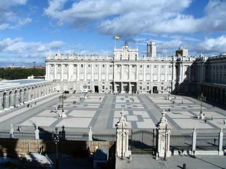 Palacio Real en la Plaza de Oriente de Madrid