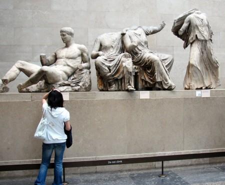 Esculturas del Partenón de Atenas en el Museo Británico de Londres