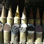 Carbonería en la Medina de Marrakech en Marruecos