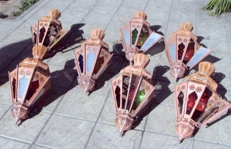 Plaza de los Hojalateros en la Medina de Marrakech en Marruecos