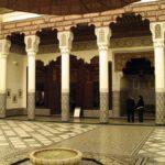 Sala central del Museo de Marrakech en el Palacio Mnebhi