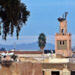 Vistas de Marrakech desde las murallas del palacio El Badí