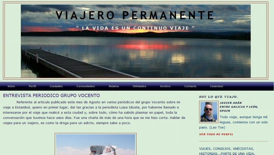 Blog personal de viajes Viajero Permanente