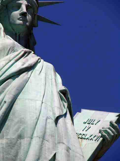 Monumento de la Estatua de la Libertad en Nueva York