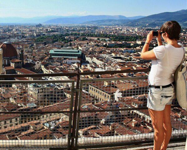Vistas panorámicas de Florencia desde la Cúpula de Brunelleschi