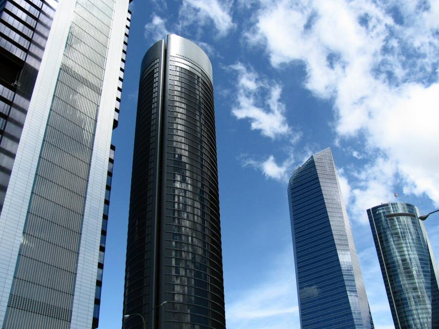 Las cuatro nuevas torres de la Castellana en Madrid, los rascacielos más altos de España