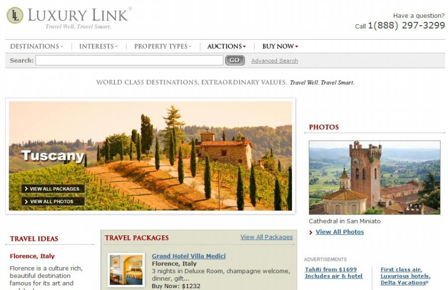 Las mejores ofertas de hoteles de lujo en todo el mundo en Luxury Link
