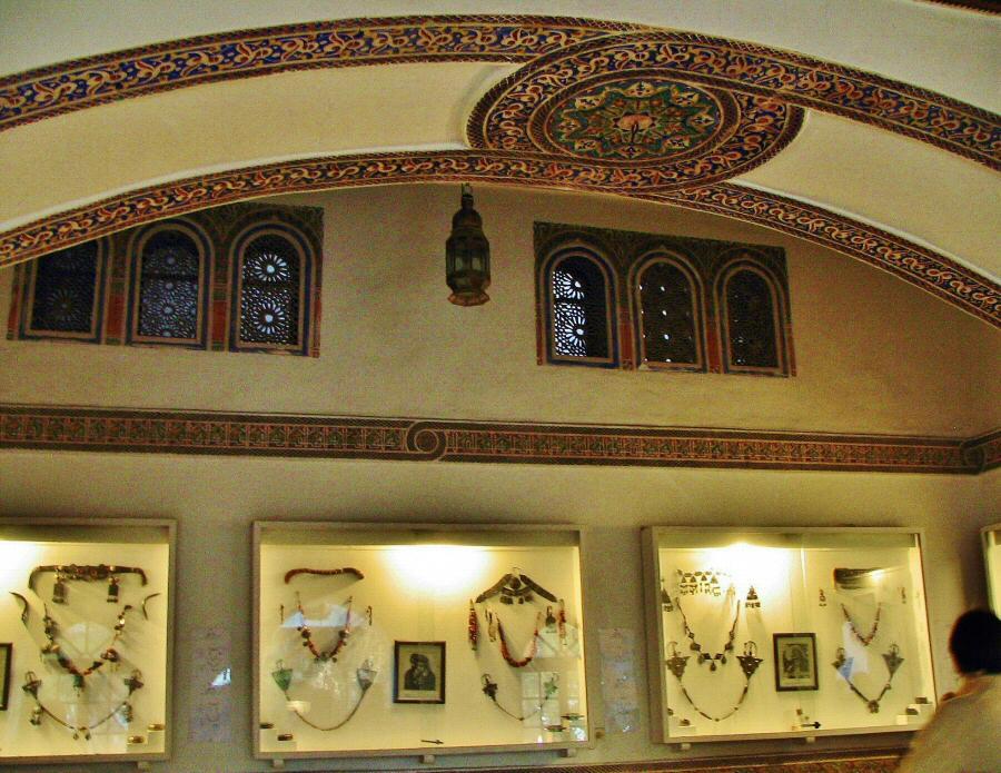 Museo de arte marroquí en el palacio Dar Si Said de Marrakech