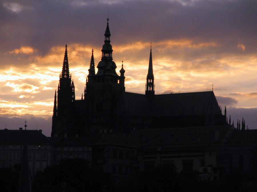 Catedral de St Vitus en el Castillo de Praga