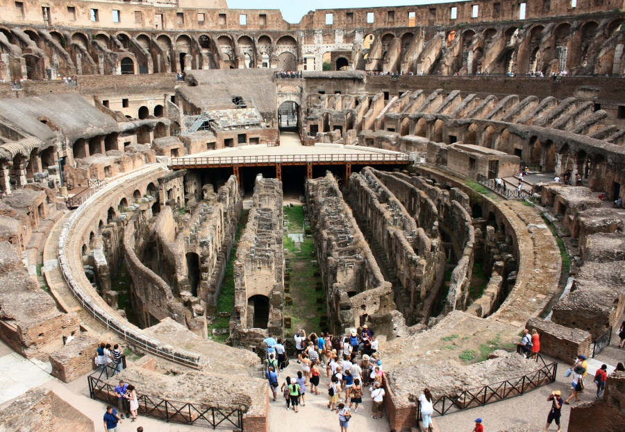 Ya se pueden visitar los subterráneos del Coliseo de Roma en Italia