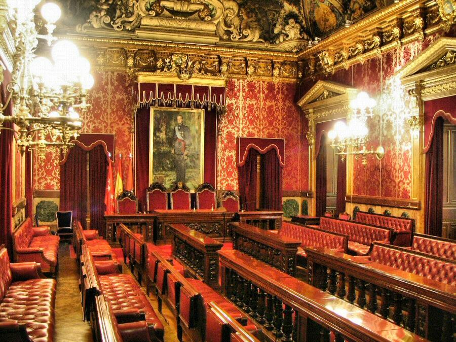 Salón de Plenos de la Casa de la Villa antiguo Ayuntamiento de Madrid