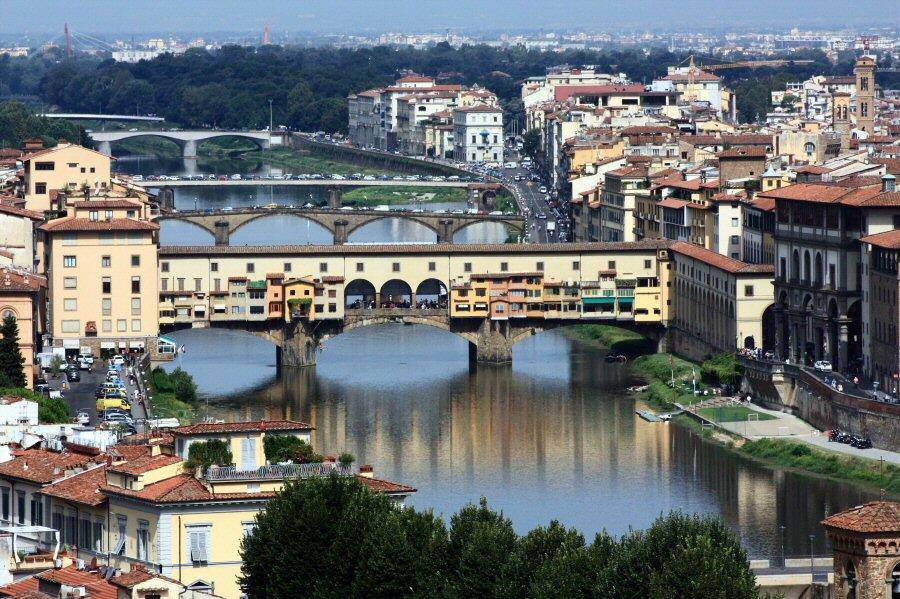 Vistas panorámicas de Florencia en Italia