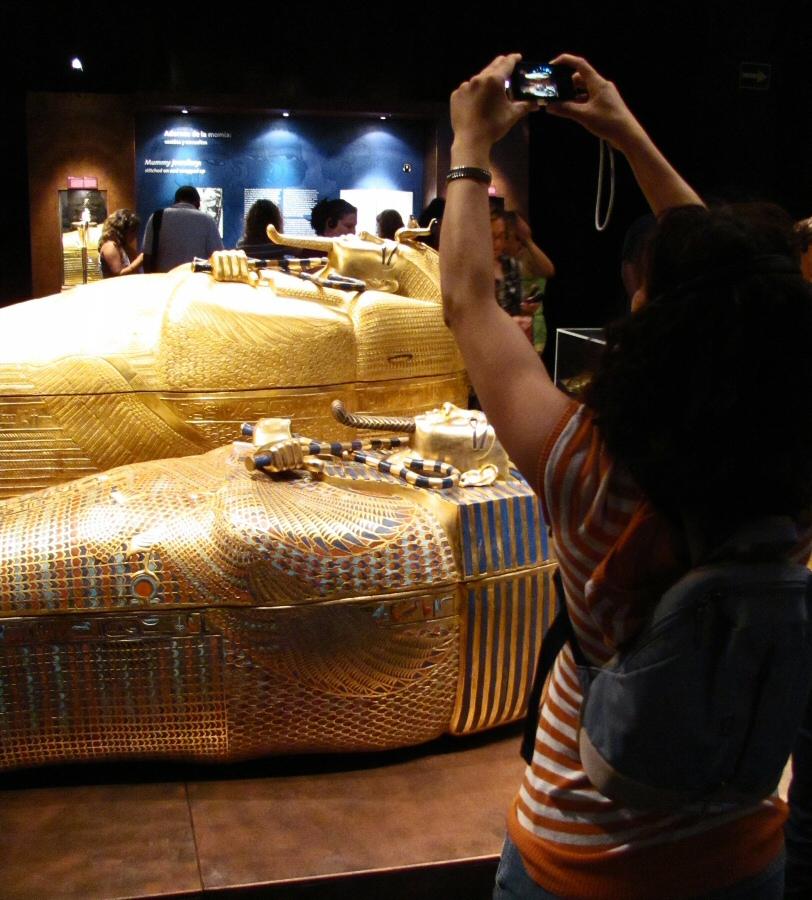 Exposición de Tutankamon en la Casa de Campo en Madrid