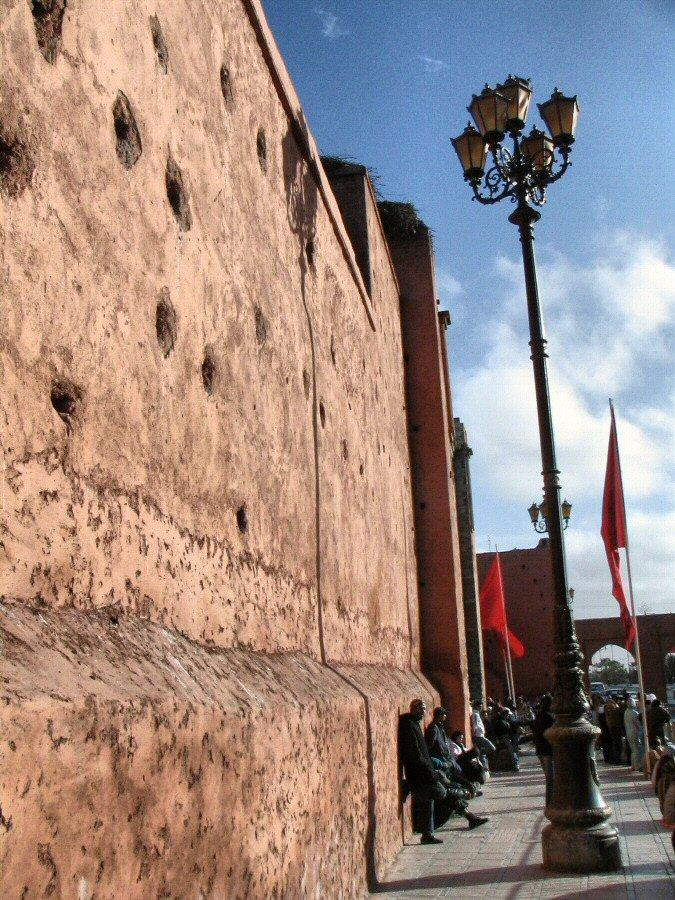 Muralla de la Medina de Marrakech en Marruecos
