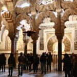 Arcos frente a la macsura y el mihrab de la Mezquita de Córdoba