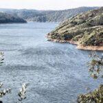 Río Tajo en el parque nacional de Monfrague en Extremadura