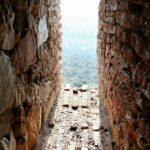 Ventana de la torre Castillo del parque nacional de Monfrague en Extremadura