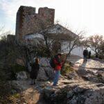 Castillo y ermita del parque nacional de Monfrague en Extremadura