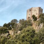 Castillo de Monfrague en el parque nacional en Extremadura