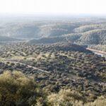 Vistas panorámicas desde el Castillo del parque nacional de Monfrague en Extremadura