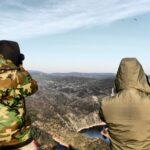 Avistamiento de rapaces desde el Castillo del parque nacional de Monfrague en Extremadura