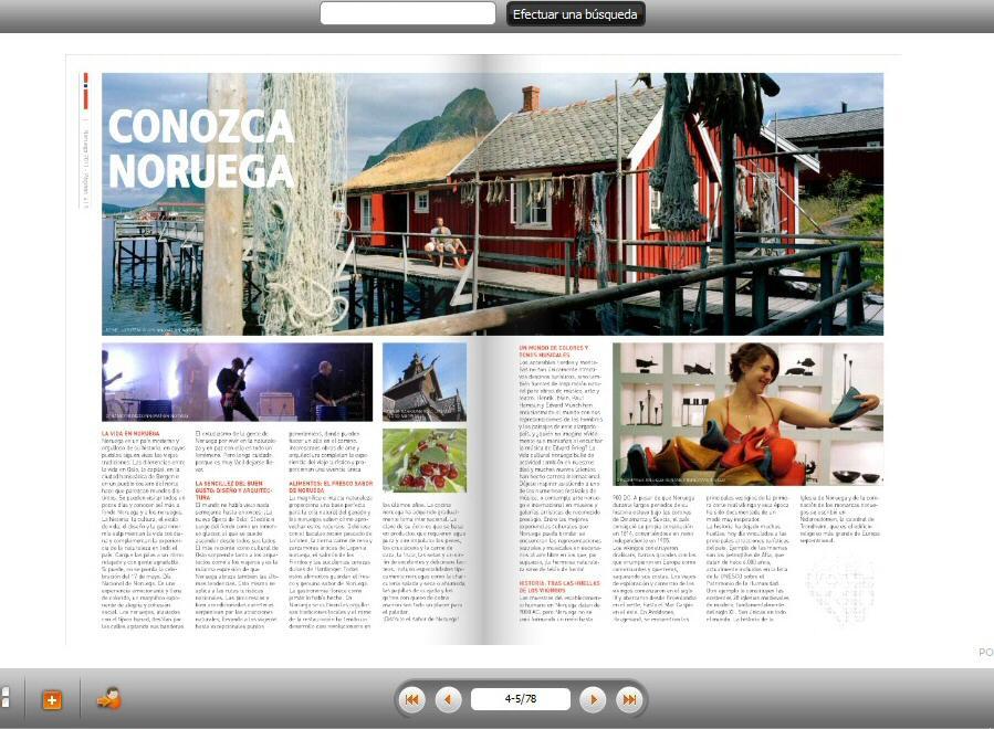 Consulta online de los catálogos de turismo 2011 de Noruega