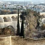 Vistas del puente romano desde el Alcázar de los Reyes Cristianos en Córdoba