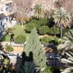Campo Santo de los Mártires desde el Alcázar de los Reyes Cristianos en Córdoba