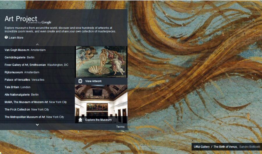 Visitas virtuales de museos y sus pinturas con Google Art Project