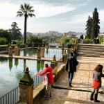 Jardines del Alcázar de los Reyes Cristianos en Córdoba en Andalucía