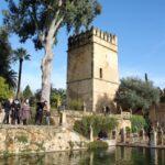 Torre de los Leones en el Alcázar de los Reyes Cristianos en Córdoba en Andalucía