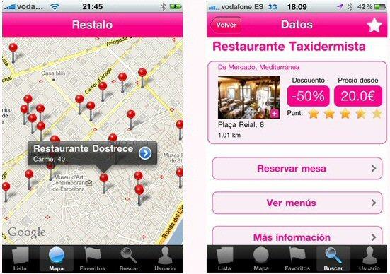 Consulta y reserva de restaurantes con la app para iPhone de restalo.es