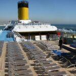 Cubierta superior del barco de cruceros Costa Serena