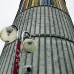 Antigua torre de refrigeración, sede actual del Musi, Museo de la Siderurgia de La Felguera