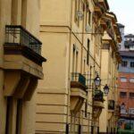 Barrio obrero de Urquijo junto a la antigua fábrica siderúrgica de La Felguera en Asturias