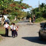 Calle de Puerto Viejo en el Caribe de Costa Rica