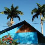 Casa tradicional en Puerto Viejo en el Caribe de Costa Rica