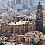 Catedral de Málaga desde el castillo de Gibralfaro