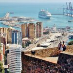 Vistas panorámicas de Málaga desde castillo de Gibralfaro