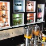 Zona de desayunos del Hotel Suite Novotel de Málaga
