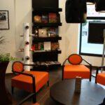 Zona de lectura en el Hotel Suite Novotel de Málaga