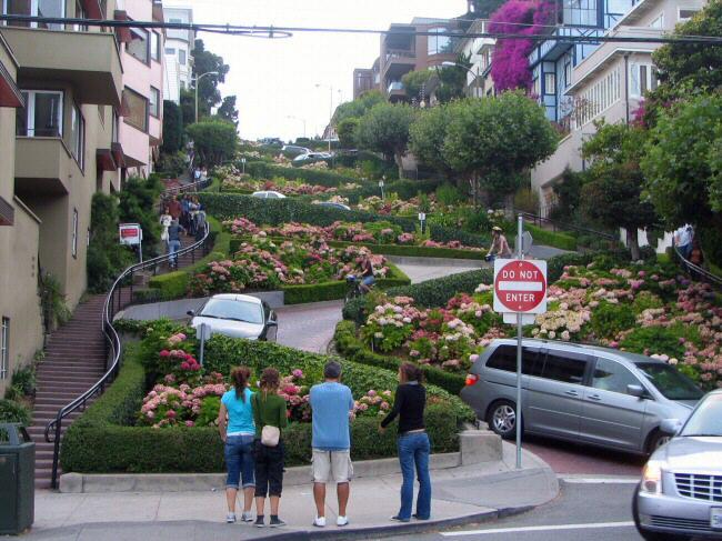 Calle Lombard en San Francisco en California