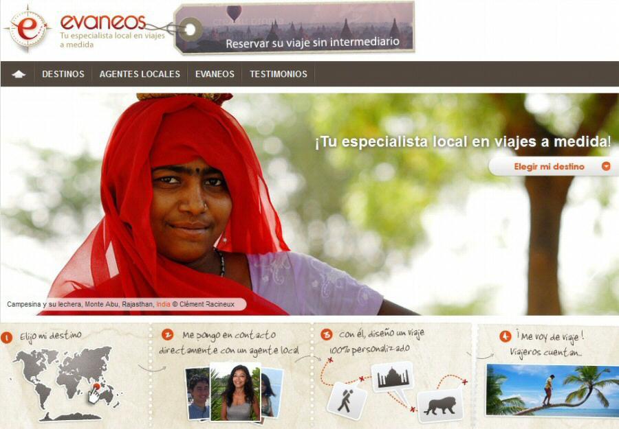 Web Evaneos para contratar agencias locales para tu viaje turístico a la medida